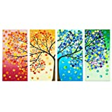 certainPL Full Drill 5D Diamond Painting Kits DIY Crystal Rhinestone Diamond Embroidery Paintings Arts Craft for Adults, The Nature, Set of 4 (A) (Color: A)