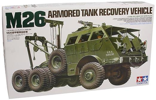 Tamiya - 35244 - Maquette - M26 Dépanneuse pour Char d'Assaut - 1/35
