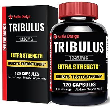 Reines Bulgarisches Tribulus Terrestris, Steigert Libido, Kraft & Ausdauer, Unterstutzt Die Naturliche Produktion Von Testosteron, 95% Saponin, 80% Protodioscin, Höchste Potenz, 1000mg - 120 Kapseln