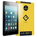Amazon Fire HD 8 Glass Screen Protector,(3 Packs) Ultra-Thin Anti-Fingerprint Clear 9H Hardness Anti-Scratch Tempered Glass Protective Film for Amazon Fire HD 8 2017 8.0