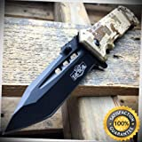 8'' Military Assisted Spring Rescue Pocket Hunting Folding OPEN Knife - Outdoor For Camping Hunting