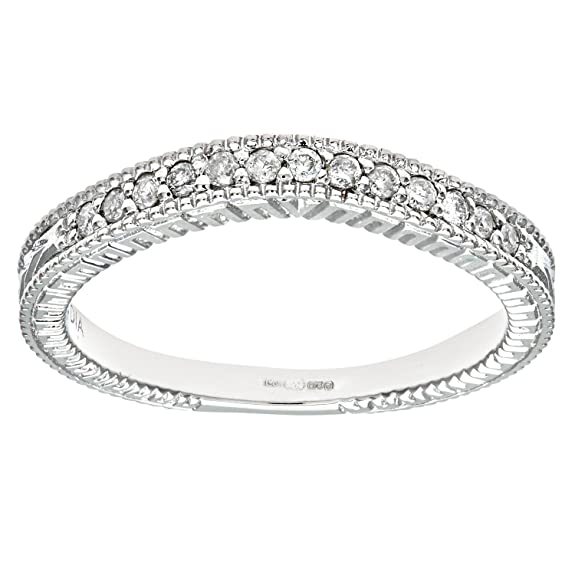 Naava 9ct White Gold Quarter Carat Diamond Fancy Eternity Ring