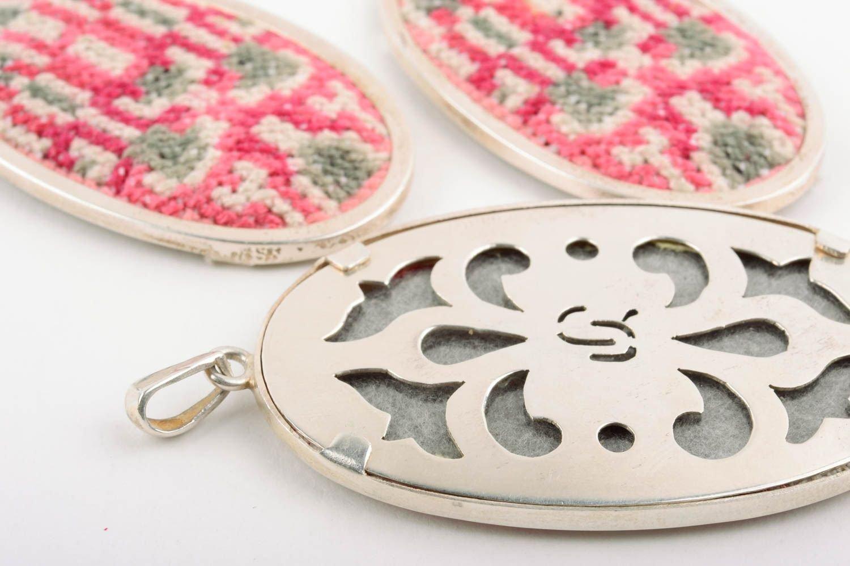 Handmade Accessoires für Damen Ketten Anhänger große Ohrringe Ethno Schmuck Set bestellen