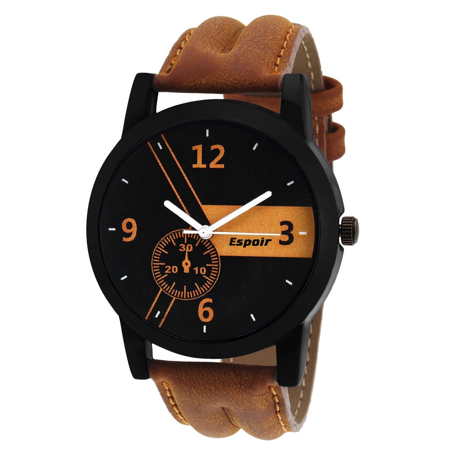Espoir Casual Analogue Tan Leather Strap Multicolour Dial Men's Watch By Amazon @ Rs.283.00