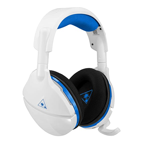 Turtle Beach Stealth 600 White Wireless Surround Sound Gaming Headset for PlayStation 4 Pro and PlayStation 4 (Color: White/Blue)