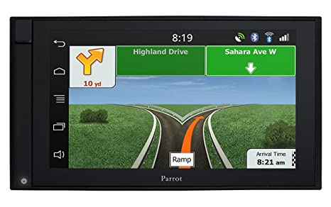 Parrot Asteroid Smart GPS Système de Navigation + Ecran Rétractable Carte Nationale Fixe, 16:9