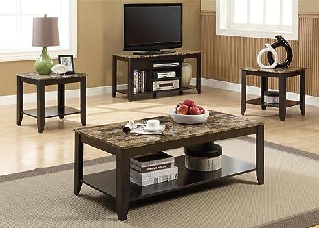 Monarch Cappuccino Coffee Table Set