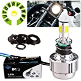 AUTOSAVER88 H4 LED Headlight Motorcycle 3 Sided COB Hi/Lo Beam Headlight 32W 3000LM HB2 9003 6000K White