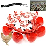 Estone 5/10/20/50 Pack Poultry Water Drinking Cups- Chicken Hen Plastic Automatic Drinker (5)