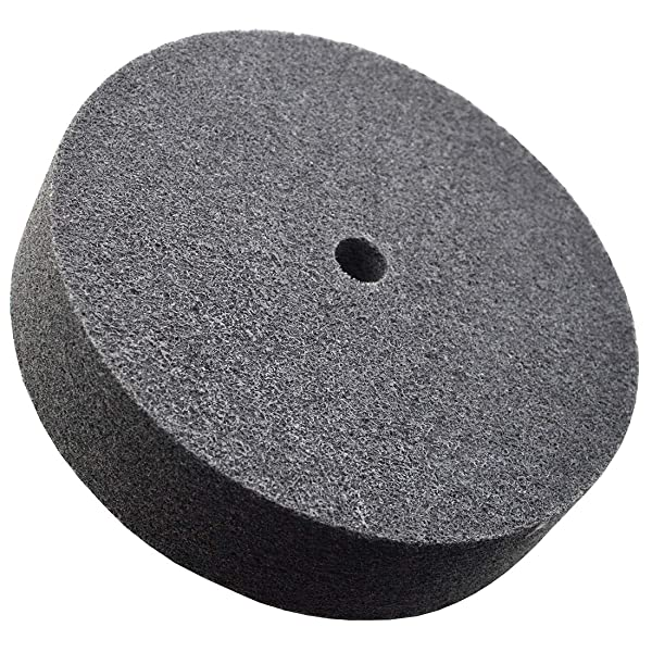 WKSTOOL 8'' Diameter×1'' Width,9P,180# Grit,Nylon Fiber Polishing Buffing Buffer Grinding Disc Pad Wheel Abrasive Tool (9Px180#Gritx18mm Bore, 8Dx1W) (Tamaño: 8Dx1W)