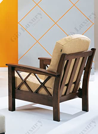 "Armchair ""Helsinki Arte povera"" with wooden frame and removable cover - 100% Made in Italy"