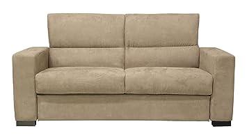 Fauteuil de veille 3 places canapé fauteuil édition Relax accoudoirs poches marron beige