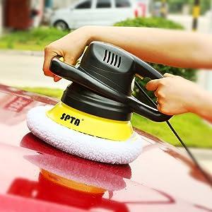 SPTA 9 Inch /& 10 Inch Car Polisher Bonnet Waxers Bonnet Set,Max Waxer Bonnet Polishing Pad for Most Car Polishers for 9 Inch /& 10 Inch Car Polisher Pack of 8Pcs