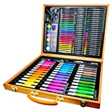 Guodanqing Primary School Children's Painting Supplies 150 Wooden Box Stationery Set Art Watercolor Pen Crayons