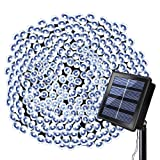 Solarmks Solar String Lights, Outdoor String Lights 72 ft 8 Modes 200 LED Christmas Lights Waterproof Decotation Outdoor Lighting for Gardens Patio Holiday Party(White)