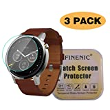 FINENIC [3 Pack] Screen Protector for Moto 360 1st and 2nd Gen 46mm smartwatch. [ 9H Tempered Glass] [No White Edge][Easy-Install] .