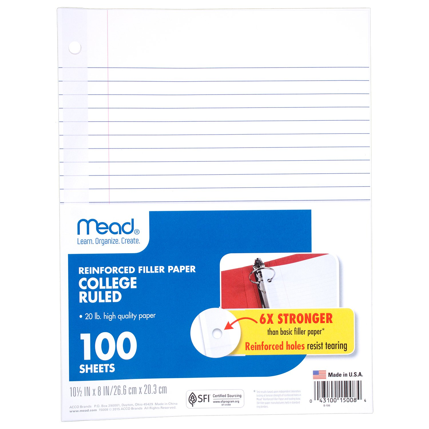 college ruled loose leaf paper Shop for norcom 78326-24 11 x 8 college ruled looseleaf paper 200 count free shipping on orders over $45 at overstockcom - your online paper, forms & envelopes.