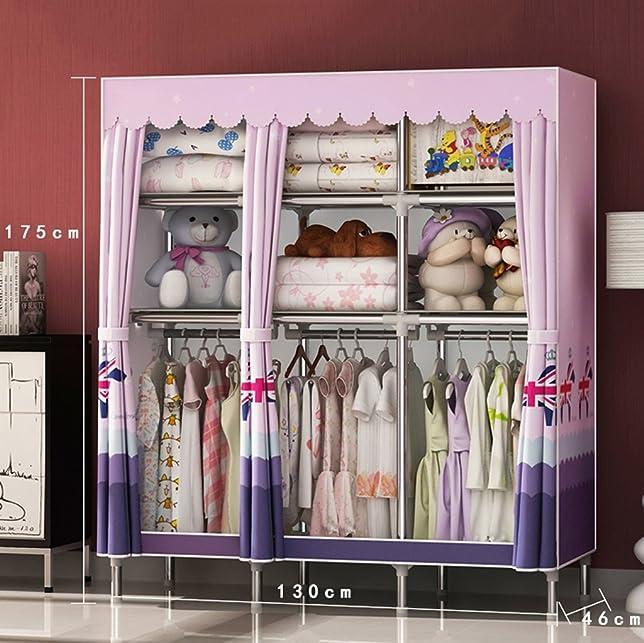 MMM& Armadietto di immagazzinaggio del panno economico moderno semplice semplice del guardaroba della famiglia del guardaroba ( Colore : #2 )