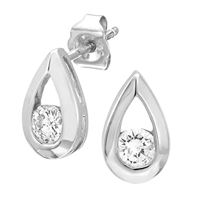 Naava 0.33 Carat Diamond Earrings in 9 ct Gold