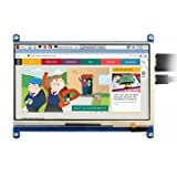 Waveshare 7inch HDMI LCD (C) Capacitive Touch Screen Display Supports Various Systems for All Ver. Raspberry pi 3 Model B/3 B+ 2B/B+/B/A BeagleBone Black Banana Pi/Pro Video Photo Kit (Color: 7inch (C), Tamaño: 7inch (C))