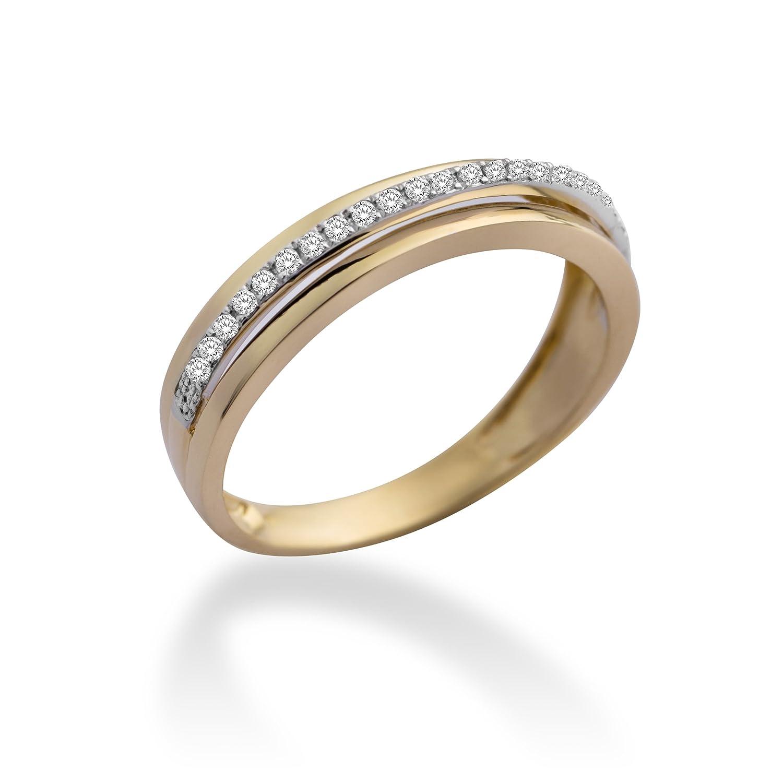 Miore Damen-Ring 9 Karat (375) Gelbgold mit 0.12ct Brillanten MP9074R günstig online kaufen