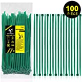 Nylon Zip Ties Heavy Duty- 8 Inch Green,Multi-Purpose Self Locking Cable Ties, Ultra Strong Plastic Wire Ties with 50 Pounds Tensile Strength, 100 Pieces. (Color: Green, Tamaño: 8 Inch)