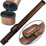CUESOUL 1x1 Hard Pool Cue Billiard Stick Carrying,Brown Cue Case 1x1 Holds 1 Butt and 1 Shaft (Color: Brown)