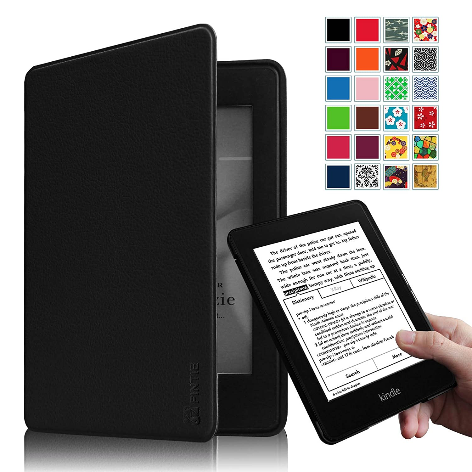 Fintie Kindle Paperwhite Case - (Blade X1) Premium Protective Smart Shell Leather Cover for All-New Amazon Kindle Paperwhite (Fits All versions: 2012, 2013, 2014 and 2015 New 300 PPI), Black