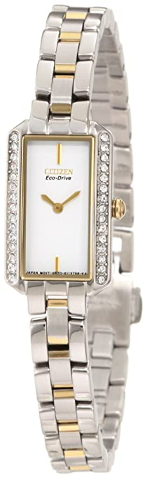 Citizen Women's EG2784-58A Eco-Drive Silhouette Crystal Watch 西铁城 女士 光动能腕表 30颗施华洛世奇水晶-奢品汇 | 海淘手表 | 腕表资讯