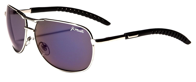 Aviator Sunglasses AV35 Flash Lens Adjustable Arms (Silver)