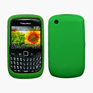 Green Silicone Case / Skin / Cover for RIM BlackBerry Curve 8520 / 8530