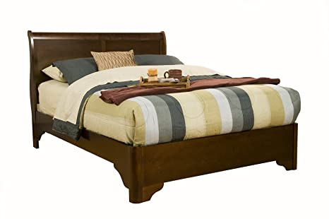 Chesapeake California King Low Profile Sleigh Bedroom Set in Cappuccino
