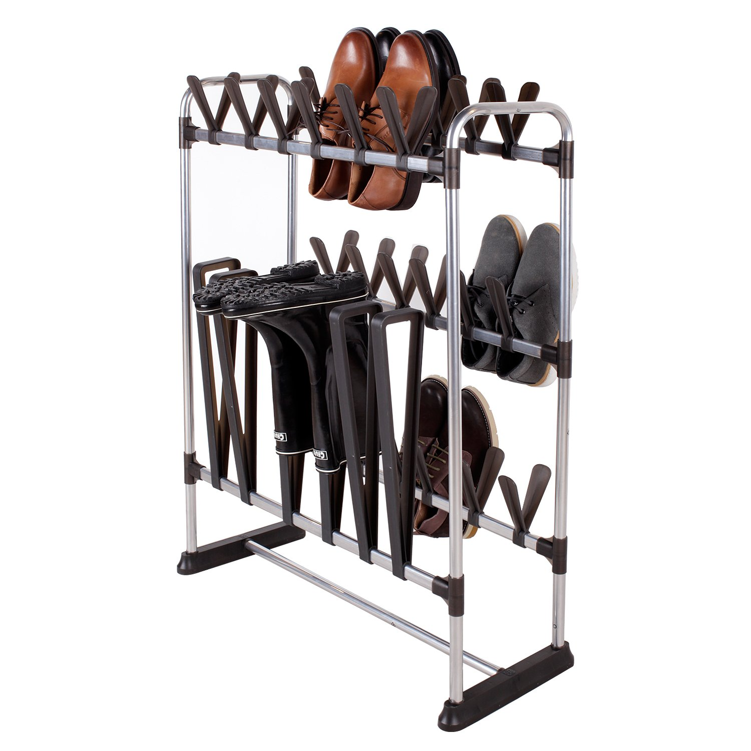 storagemaniac 24 shoes 3 boots shoe rack multifunctional