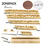 ZONEPACK Copper Brass Stamping Flexible Letters Numbers Alphabets Symbols Characters Molds CNC Engraving Molds for Hot Foil Stamping Machine (Cursive) (Tamaño: Cursive)