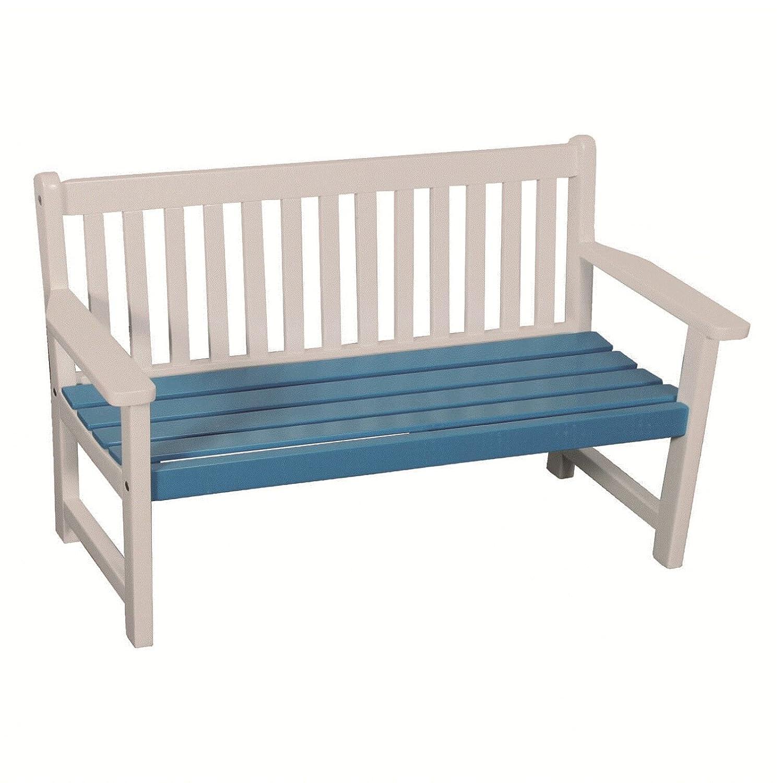 My Garden 1002332 Kinder Bank Gartenbank Kinderbank Akazienholz Breite 75cm weiss-blau günstig bestellen