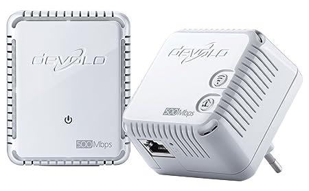 devolo dLAN 500 WiFi Prise Réseau CPL Wi-Fi (500 Mbits/s, 2 Adaptateur, 2 Ports Fast Ethernet, Ampificateur WiFi, Powerline Adaptateur, WiFi Move) - Kit de Démarrage, Blanc