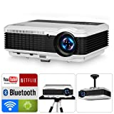Bluetooth Home Entertainment Video Projectors, Android OS LCD 5.8