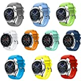 Leefrei Soft Silicone Sport Watch Band 22mm Replacement Strap Compatible with Samsung Galaxy Watch (46mm) Gear S3 Frontier/Classic Smart Watch (Pack of 10) (Color: Pack of 10, Tamaño: 22mm (Fits Galaxy Watch 46mm, Gear S3))