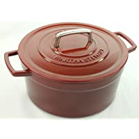 Martha Stewart Collection Enameled Cast Iron 6 Qt. Round Casserole (Multiple Colors)