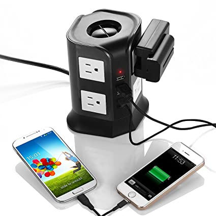Smart 8-Outlet with 4-USB Output Surge Protection Power Strip