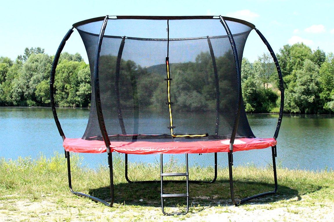 MIWEBA SPORTS Exclusiv WORLD Trampolin 12 FT 366 cm komplett Set in rot Gartentrampolin jetzt kaufen