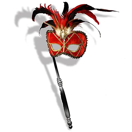 Forum Novelties Inc - Red Venetian Mask with Stick