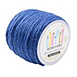 Pandahall 1 Roll(100m, About 100 Yards) RoyalBlue Colored Jute Twine Jute String for Jewelry Making Craft Project, 2mm (Color: Royalblue, Tamaño: 2mm-3Ply)