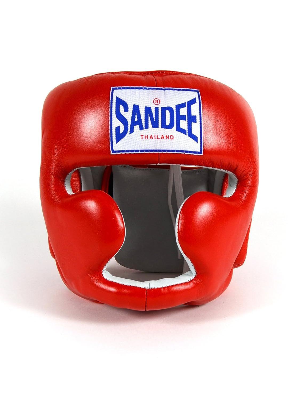 Sandee Closed Face Leather Head Guard