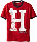Tommy Hilfiger Boys 8-20 Short Sleeve Chuck Tee, Roasted Rouge, Medium