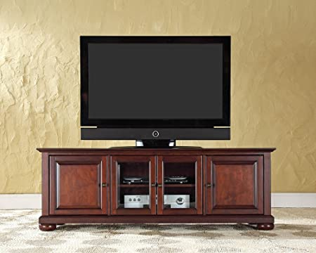 Crosley Furniture Alexandria 60-Inch Low Profile TV Stand, Vintage Mahogany