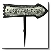 Scary Graveyard Sign