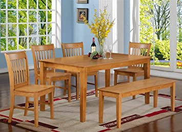 6-Pc Dining Set in Oak Finish
