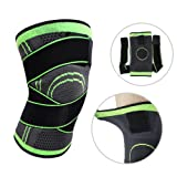 Knee Brace,Conlink Compression Support Knee Sleeve with Adjustable Strap Knee Pad for Pain Relief, Meniscus Tear, Arthritis, ACL, MCL,Suit for Running, Cycling, Tennis, Golf and Basketball (Color: Green, Tamaño: XXL)