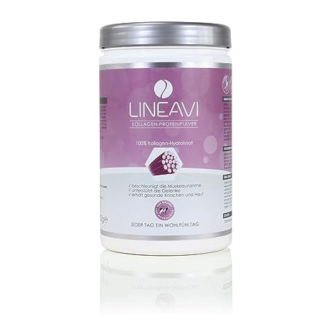 Lineavi Kollagen Proteinpulver - 100% Kollagen-Hydrolysat von Rindern aus Weidehaltung, 453g